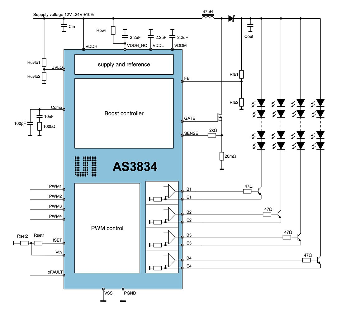 Precision Lighting Tampa Fl Best As3693b 16 Channel Led Controller Block Diagram As3834 Driver Sensor Driven Pmt
