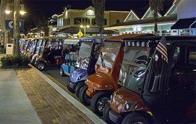 SFD-1000 Series Storm & Lightning Detector on a Residential Golf Cart