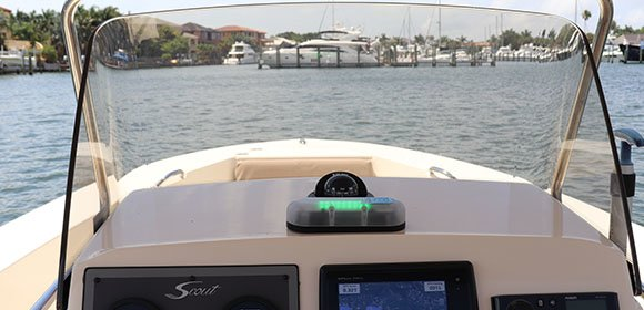 SFD-1000 Lightning Detector on a Boat