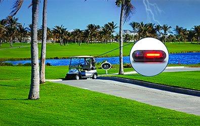 SFD-1000 Storm & Lightning Detector on a Golf Cart